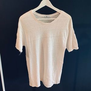 Zara Basic Linen T-Shirt